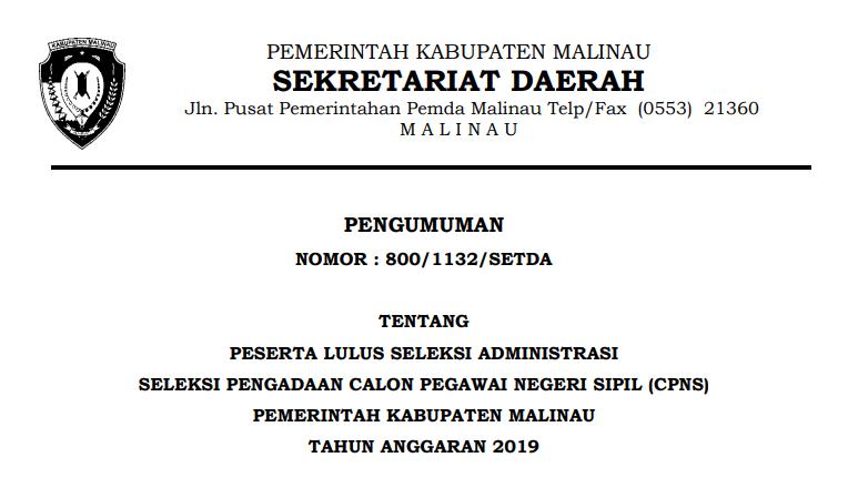 pengumuman-lulus-seleksi-adm-cpns-malinau-2019