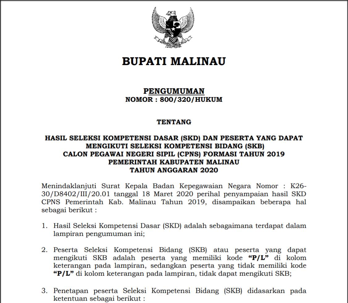 hasil-seleksi-kompetensi-dasar-skd-dan-peserta-yang-dapat-mengikuti-seleksi-kompetensi-bidang-skb-calon-pegawai-negeri-sipil-cpns-formasi-tahun-2019-pemerintah-kabupaten-malinau-tahun-anggaran-2020